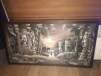 Framed Angkor Wat Painting (large)