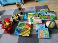 Toys (book,Fisher Price farm..)