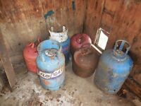 Gas bottles SIX OFF PRICE FOR LOT MAKE GOOD log burners