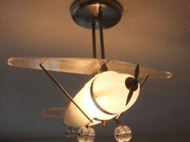 FLYING AEROPLANE BEDROOM LIGHTING,LOW FLYING HOURS (£102 ON AMAZON)