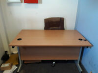 Office Desk and Drawers, Good Cond. FREE to collector.