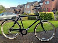 Men's Dutch style black bike, size large frame