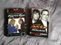 2 Hardback books, biographies, on STATUS QUO.