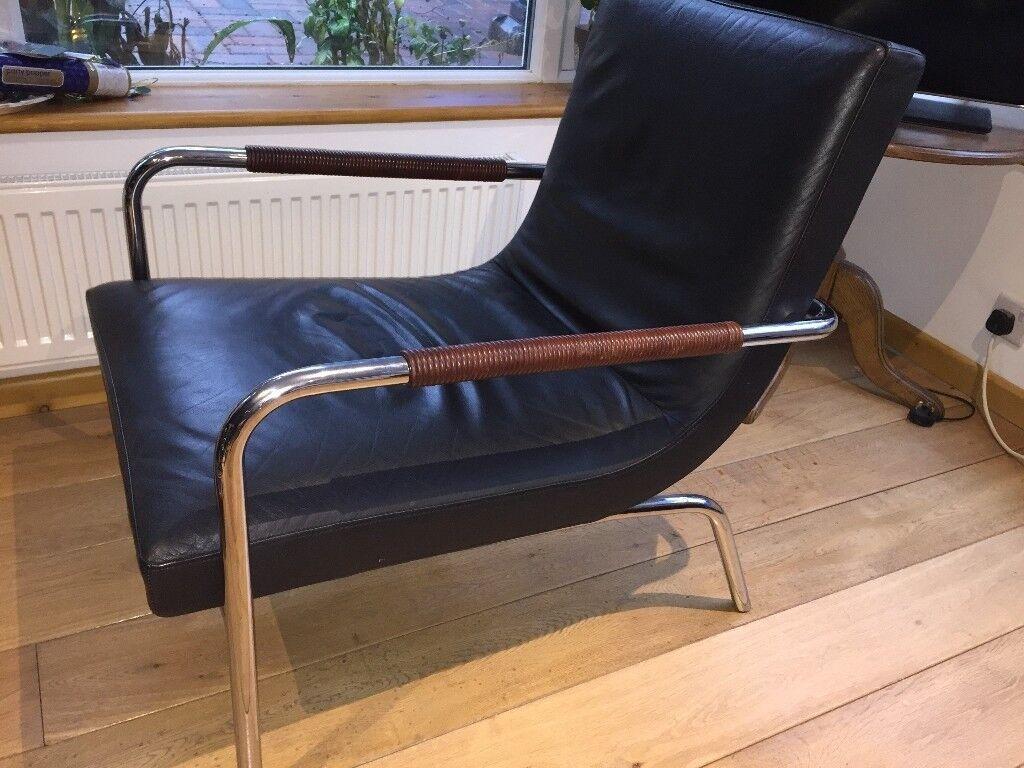 Ligne Roset Dessau Leather Armchair In Bromley London