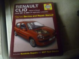 w/shop manual for renault clio mk 2 . petrol and diesel