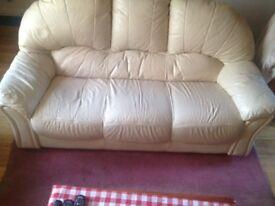 3 Seater Leather Sofa.......... FREE