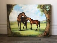 Hand painted mare and foal by local artist Edward Boyle