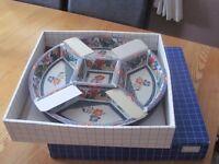 Japanese Imari style lazy susan revolving serving platter