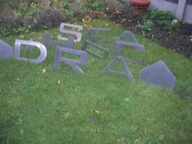 High-grade brushed stainless steel letters