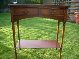 MAHOGANY SIDE TABLE OR TELEPHONE TABLE FOR HALL