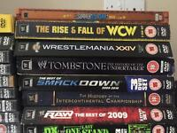 WWE DVDs, over 50