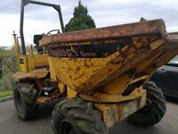 Thwaites 5ton swiveldumper & high tip 1 ton dumper