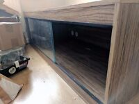 MASSIVE Vivarium For Sale! Inc. Heat Guard & Thermostat! 6 ft x 2 ft x 3 ft Great For Large Reptiles