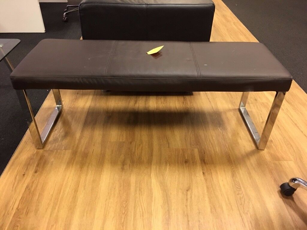 Leather bench REDUCED TO £5