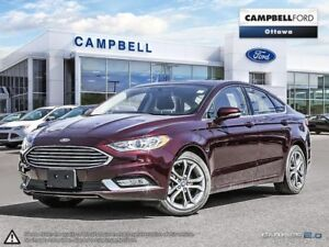 2017 Ford Fusion SE LEATHER-POWER ROOF-LOW KMS