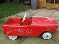 Vintage triang thunderbolt pedal car
