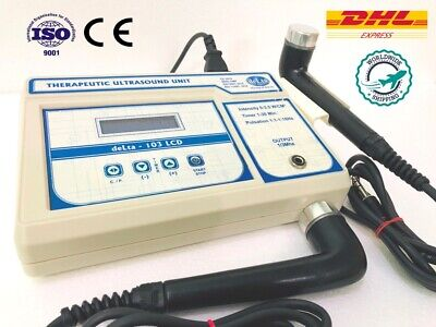 New Physiotherapy Electrotherapy Ultrasound 1 3 Mhz Light Weight Machine Lcd D