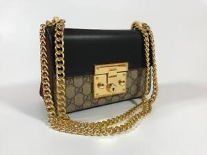 Gucci Padlock GG Supreme Mini Shoulder Bag ( More Brands And Styles Available) Largest Fashion Store In The Market