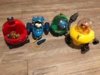4 Octonaut vehicles and figures