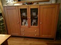 Wooden and Glass Display and Sideboard