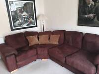 Corner Sofa and stool.