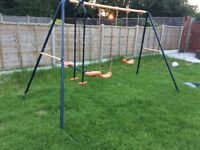 Kids Swing & See Saw Garden Set - Ages 3-10 - Excellent Condition Pick up Only