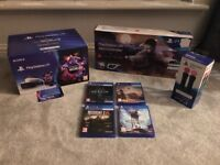 PSVR, Move and Aim Controllers + Games - as new, most unopened