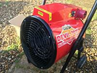 Clarke devil 7015 industrial 15kw electric fan heater