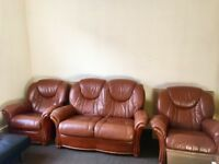 Leather Sofa - dark brown