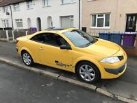 2008 (58 PLATE) RENAULT MEGANE CABRIOLET 1.5DCI GIALLO