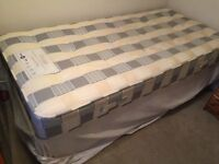 SINGLE BED AND MATRESS WITH 2 DRAWERS