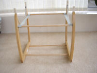 Mamas & Papas wooden Rocking Moses Basket/Carrycot stand