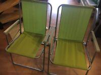 Folding garden/beach chair X 2