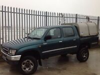 TOYOTA HILUX DOUBLE CAB 2.5 TD 4X4 MANUAL GREEN