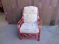 Cane Framed single Armchair Delivery available £8