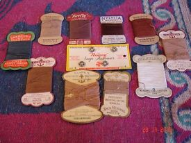 Sewing threads from times gone by. Interesting mixture for hand sewing.