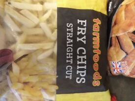 Frozen bag of chips and parsnips.