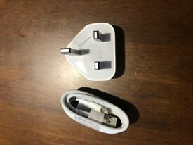 Apple original charger and lightning cable
