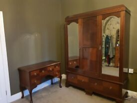 Wardrobe and vanity table, with drawers. Sold as pair - £269 - ono.