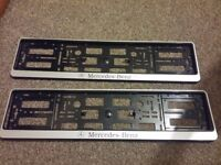 Mercedes-Benz Genuine License Plate Frame AMG (NEW UNUSED BOXED)