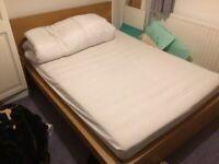 Ikea Malm Double Bed Frame, Oak veneer