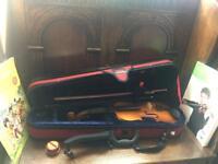 Beautiful 1/2 Violin Set New Pink Bow, Chin Rest, Books etc