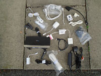APPROX. 50 VARIOUS GAMES CONSOLE, TV, INTERNET, BROADBAND, CHARGERS, CABLES & LEADS FOR PHONES