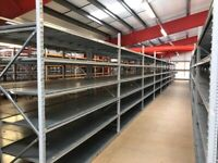 18 BAYS APEX INDUSTRIAL LONG SPAN SHELVING AS NEW ( PALLET RACKING , STORAGE)