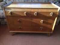 Vintage chest of drawers sideboard tv stand 1960s mid century bedroom atomic legs