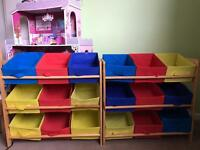 2 kids storage shelving