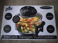 Visicook 12 Litre Halogen Multicooker Black. Roast . Bake . Defrost . Grill
