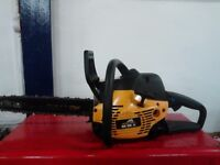 chainsaw petrol with new chain fitted runs well