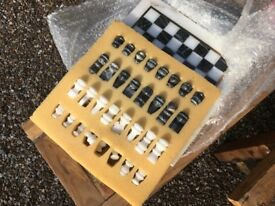 Various Marble and Wooden Complete Chess Sets