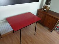 Vintage Retro 1950's Atomic Red Formica Kitchen Table